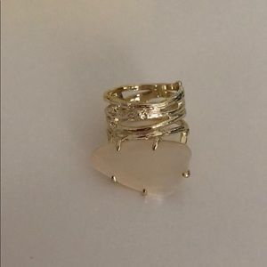 New Kendra Scott gold and mother pearl ring